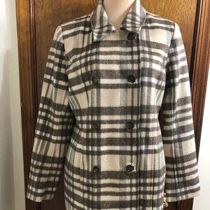 SUNDANCE Women's Plaid Wool Coat Size Medium